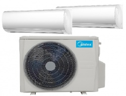Midea MA-09NXD0-I Blanc oldalfali beltéri klímaberendezés 2x2,6 Kw (kültérivel M20D-18HFN8-Q   5,3Kw)