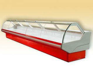 <p><strong>Standard felszereltség:</strong> <br>– hidraulikusan nyitható hajlított, fűtött frontüveg; <br>– festett belső rakodófelület; <br>– ABS oldalfal; <br>– fűtött elpárologtató; <br>– éjszakai plexi; <br>– fehér, kék, piros, zöld vagy sárga dekoráció; <br>– rozsdamentes munkalap.</p>  <p><strong>Opcionálisan rendelhető:</strong></p>  <p>– fix elválasztó üveg; <br>– mozgatható elválasztó plexi; <br>– frontüveg ventiláció; <br>– LED felső világítás; <br>– gránit munkalap; <br>– rozsdamentes belső rakodófelület.</p>  <p><strong>Technikai adatok:</strong> <br>– ventilációs hűtés; <br>– split rendszerű aggregáttal (nem tartalmazza); <br>– hűtési tartomány: -1 és +5 °C között (max. +25 °C-os külső hőmérséklet és 60%-os páratartalom mellett); <br>– hálózati feszültség: 230 V / 50 Hz; <br>– elektronikus thermosztát.</p>