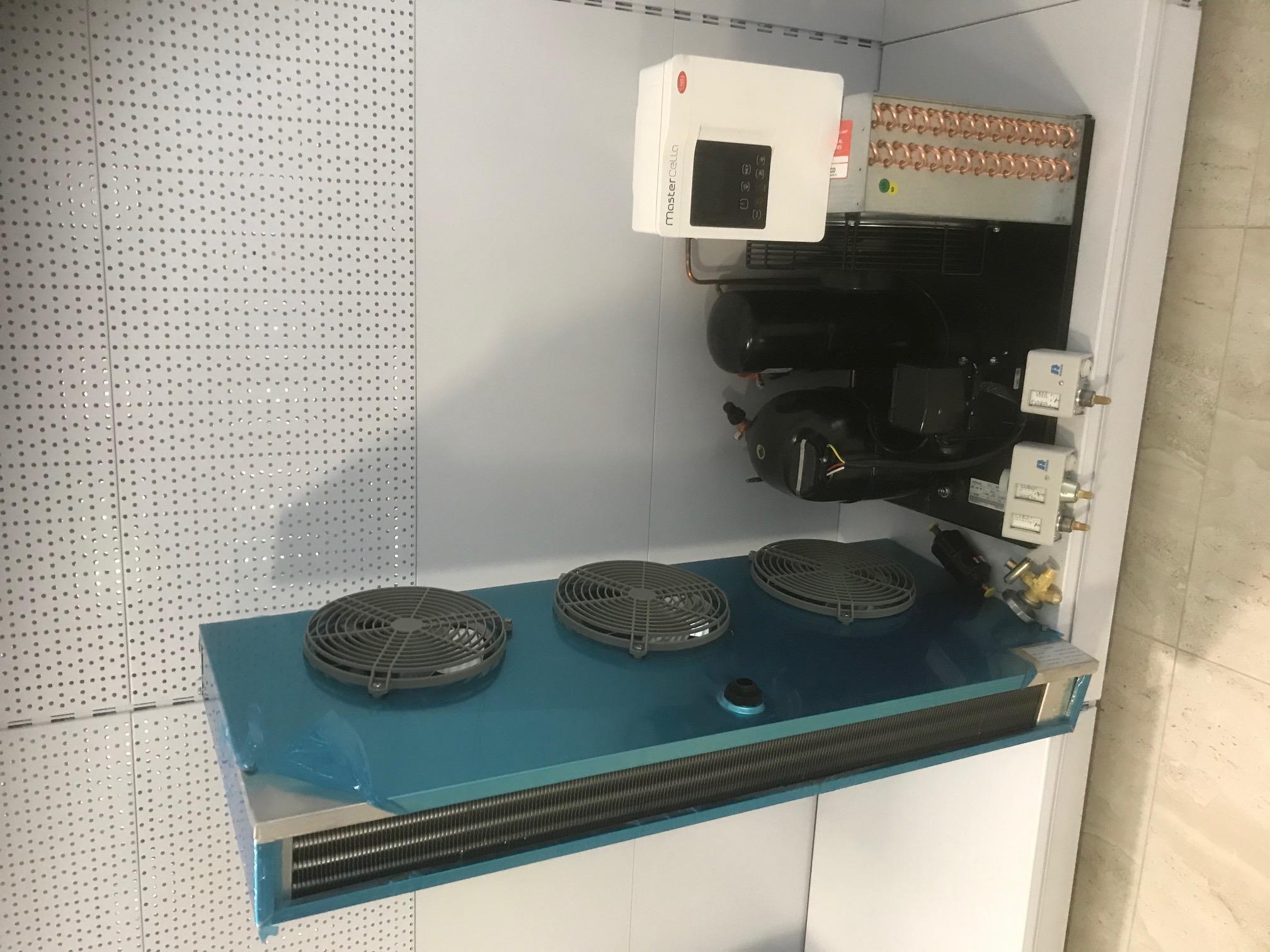 Hűtőkamra gépészet 3-4 m3 normál gazdaságos csomag