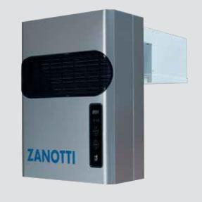 Zanotti Monoblokk oldalfali BGM-XA 112DA11   0,88Kw  Mélyhűtő kamra térfogat      5-6 m3