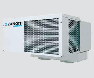 Zanotti mennyezetre szerelhető monoblokk egység MSB-XX 107EA11   1,38Kw  hűtőkamra térfogat 10-15 m3