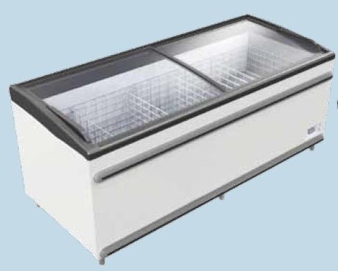 UMD 2100 D BODRUM - Mélyhűtőláda csúszó domború üvegtetővel