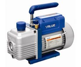 <p> <br> </p>  <p>Könnyen hordozható, praktikus vákuumszivattyú. <br>Háztartási hűtőgépszerelők nélkülözhetetlen segítőtársa. <br>Szállítóteljesítmény: 2,5 m³/h</p>  <p>Feszültség: 220V/50-60Hz <br>Lökettérfogat: 1,5cfm (~42lit/min.) <br>Vég vákuum: 2 Pa / 150 micron <br>Motor teljesítmény: 1/5 hp <br>Menet csatlakozások: 1/4SAE <br>Olaj kapacitás: 150ml <br>Méretek: 255x105x202 mm <br>Súly: 4 kg+olaj+csomagolás~4,75kg </p>