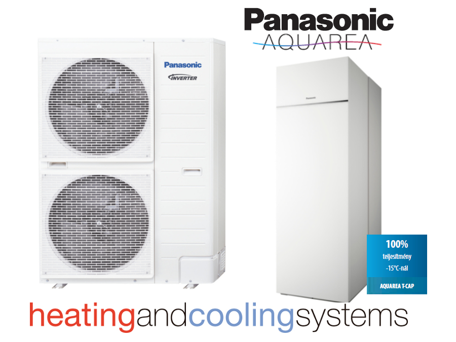 PANASONIC AQUAREA ALL IN ONE HIGH PERFORMANCE WH-UD09HE5 / ADC0309H3E5 osztott levegő-víz hőszivattyú 9kW
