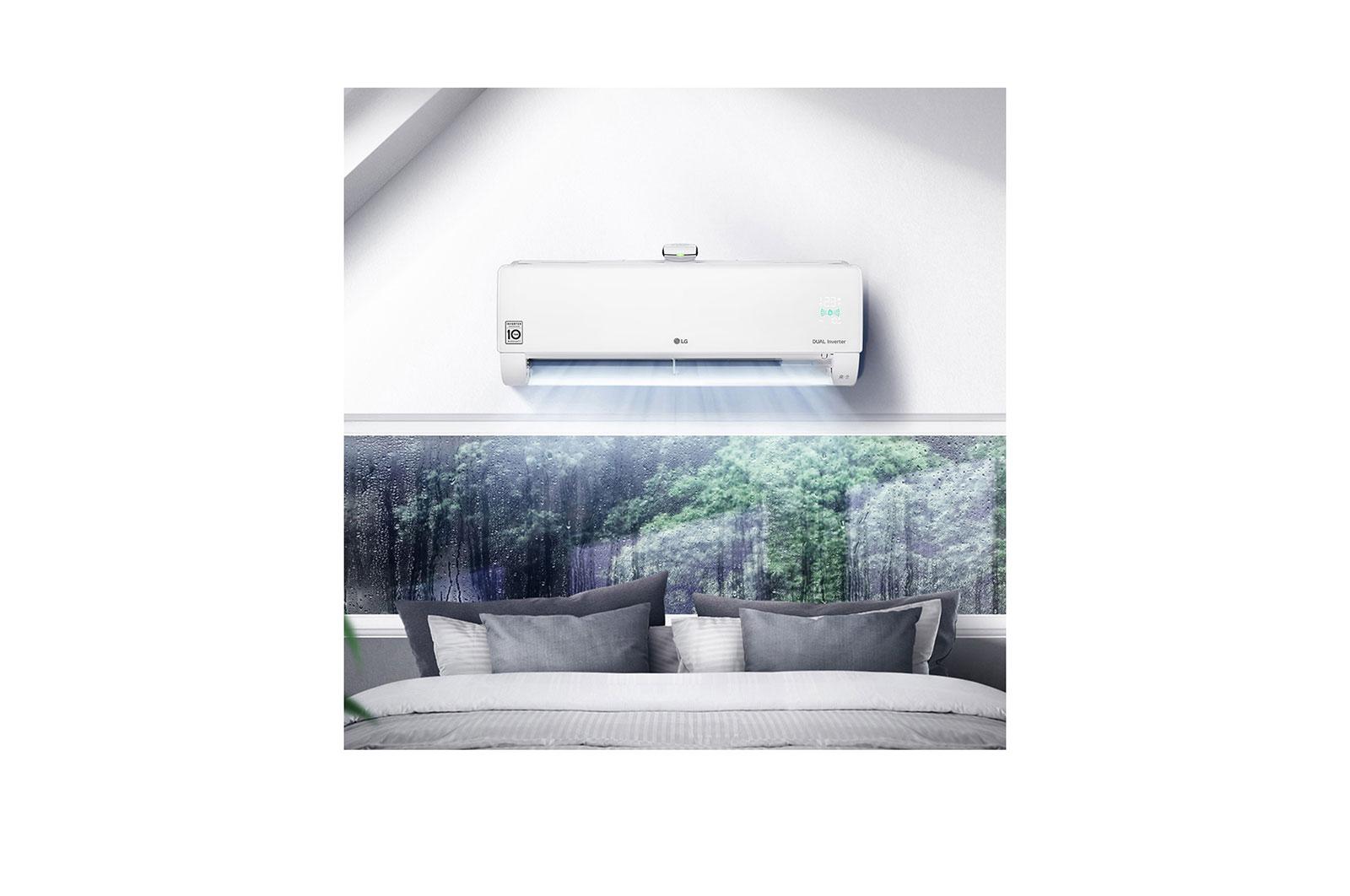 LG DUAL COOL & PURE AP09RT oldalfali klímaberendezés