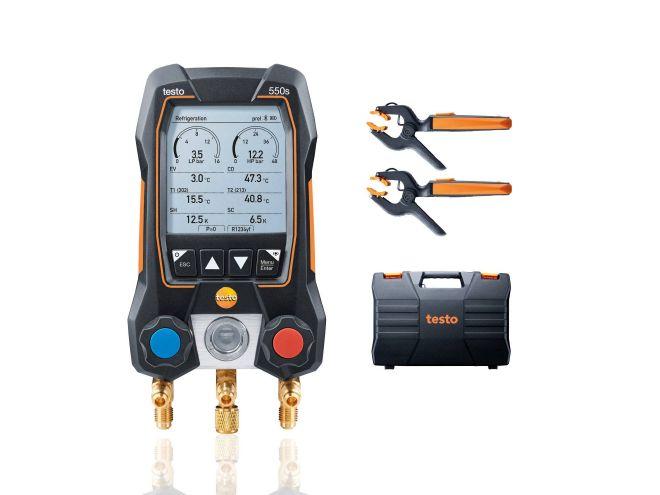 Új testo 550s Okos szett - digitális szervizcsaptelep vezeték nélküli csőhőmérséklet érzékelővel